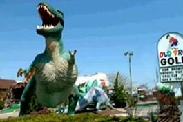 Old Pro Golf - PREHISTORIC DINOSAUR MINI GOLF