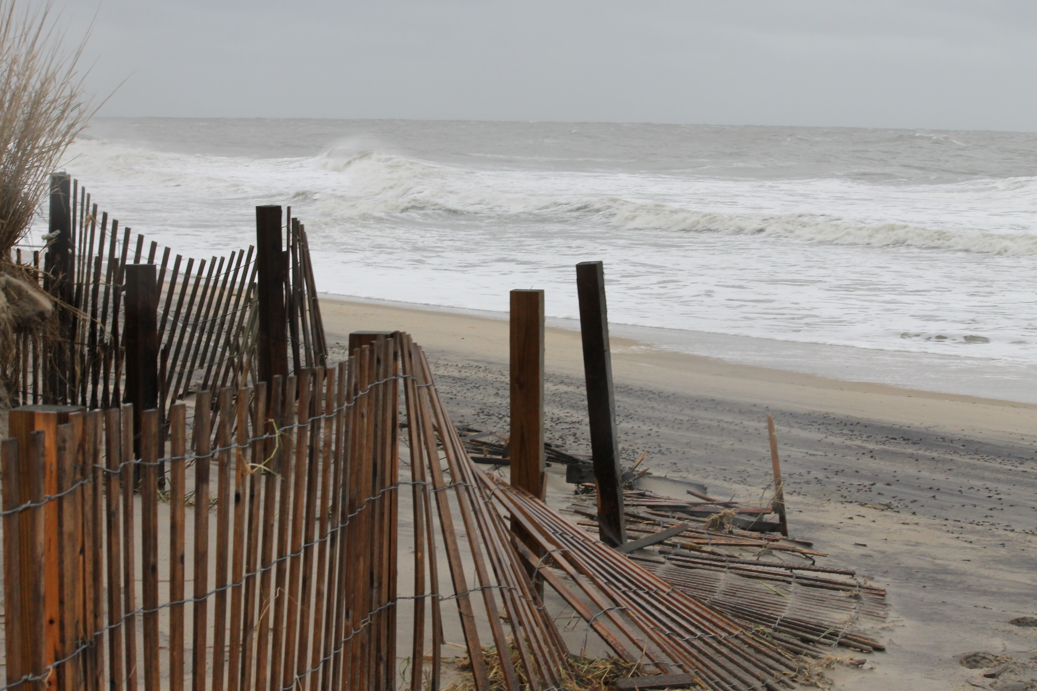 Water is receding and Ocean City is open from 17th St. North
