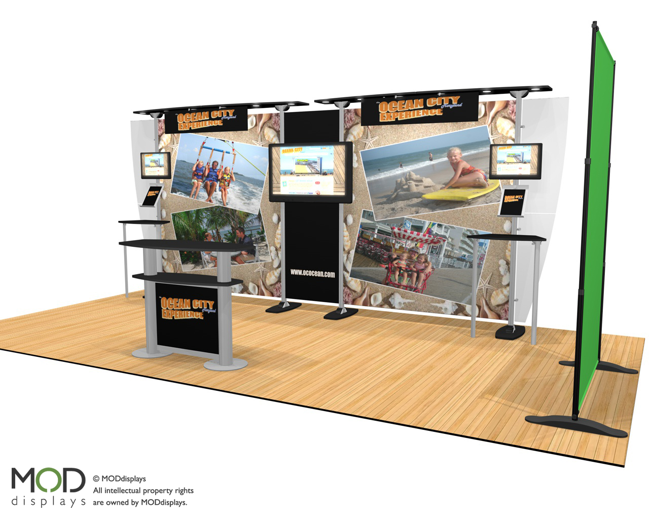 "Booth will provide ""OC Experience"" at regional trade, travel shows"