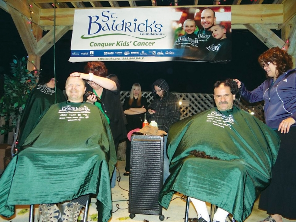 Local men (and women) going bald for Baldrick's