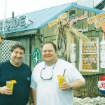 Harborside Bar and Grill owners Chris Wall, left, and Lloyd Whitehead will celebrate 20 years in business with a party on Sunday at the South Harbor Road restaurant in West Ocean City.