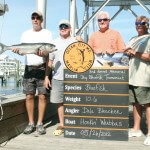 Angler Dale Bleacher, left, reeled in a 10.6 pound bluefish, during the first day of the Ocean City Marlin Club's 2012 Memorial Day Bluefish Tournament. The fish, which took first-place honors, was weighed at Sunset Marina, and worth $585.