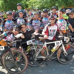 Participants gather for a photo during the 2012 Ride for the Feast — a two-day, 140-mile biking event through Maryland to raise money for Moveable Feast, a non-profit organization that provides free, nutritious meals to people living with HIV/AIDS or breast cancer.