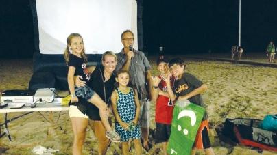 Watch surf, skate movies Saturday's on resort beach