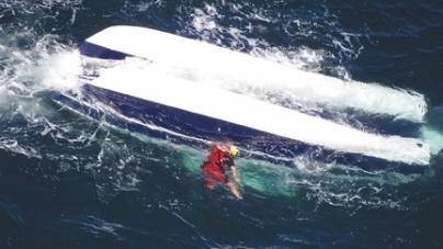 Boat capsizes, two men die