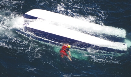 Boat capsizes, two men die