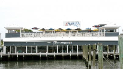 Wild Pony Bar, dining area open at Marina Deck