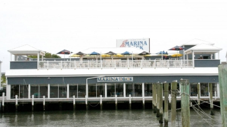 Wild Pony Bar, dining area open at Marina Deck