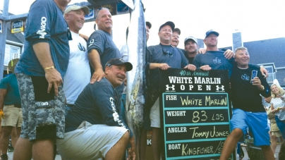 Jones in first place with 83-pound white marlin