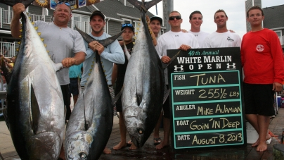 White marlin weighing 83 lbs, takes top honors