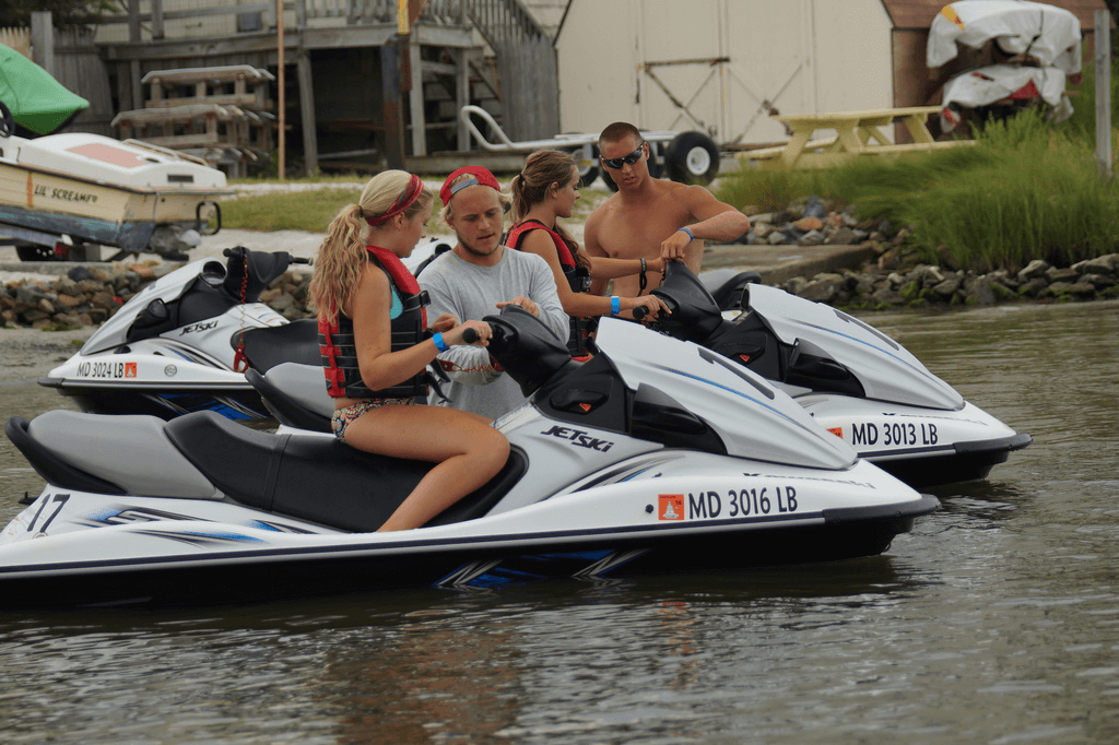 Jet skiing at Odyssea Watersports Ocean City MD