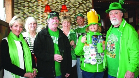 Celebrate holiday with green beer, food, merriment