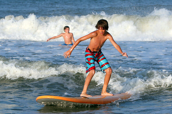 Surfing for the first time