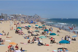 The Crowded Beaches of Ocean City