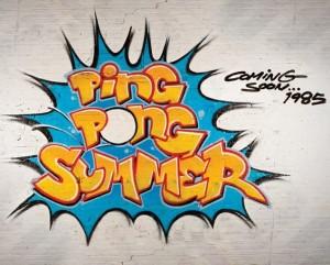 Ping Pong Summer Ocean City Maryland Poster