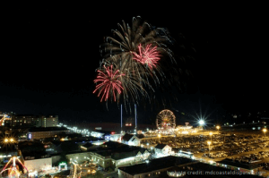 4th of July Fireworks Over Ocean City Maryland