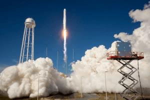 Rocket launch at Wallops Island