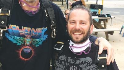 Kollin drops 121 pounds, skydives to celebrate feat