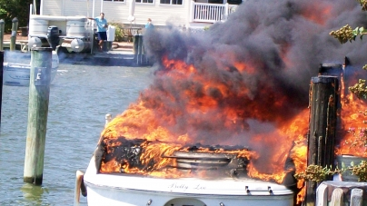 Engine compartment vapor results in boat's explosion