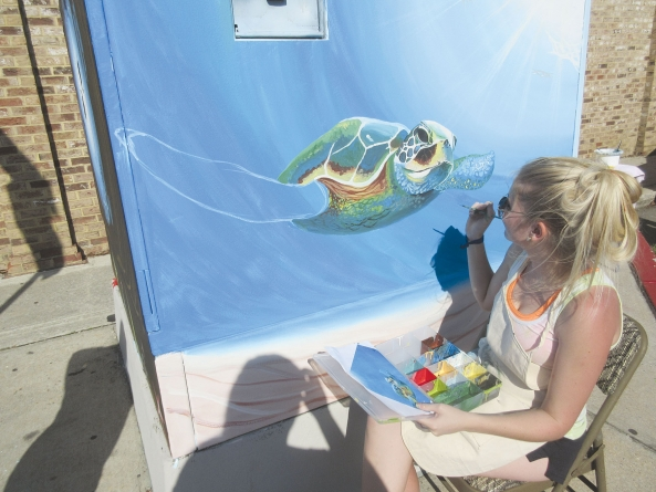 Millison spruces up Ocean City utility box with painting