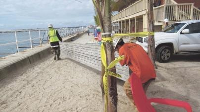 Inlet seawall repair under way