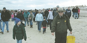 New Year's Day Beach Walk on Assateague
