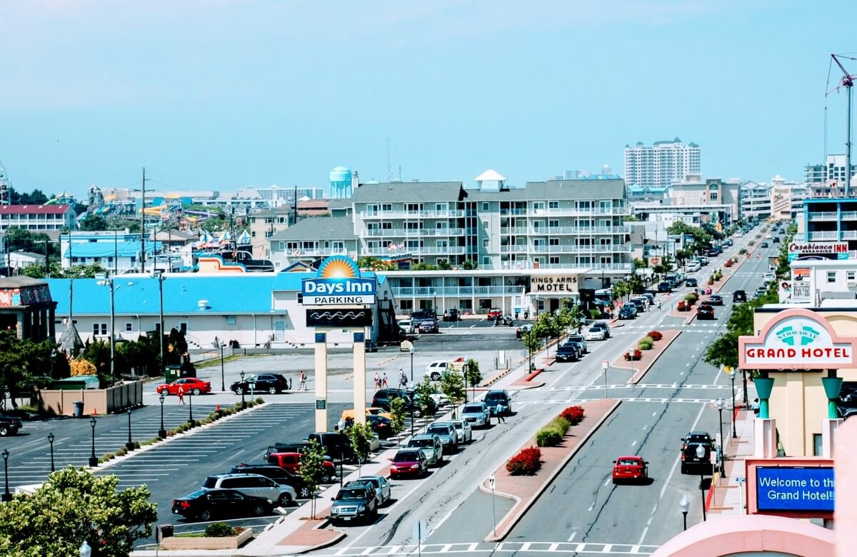 coastal highway, ocean city parking