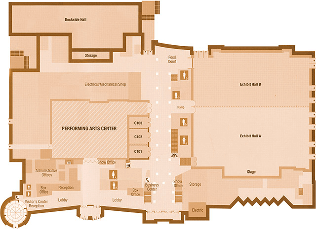 Performing Arts Center floorplan