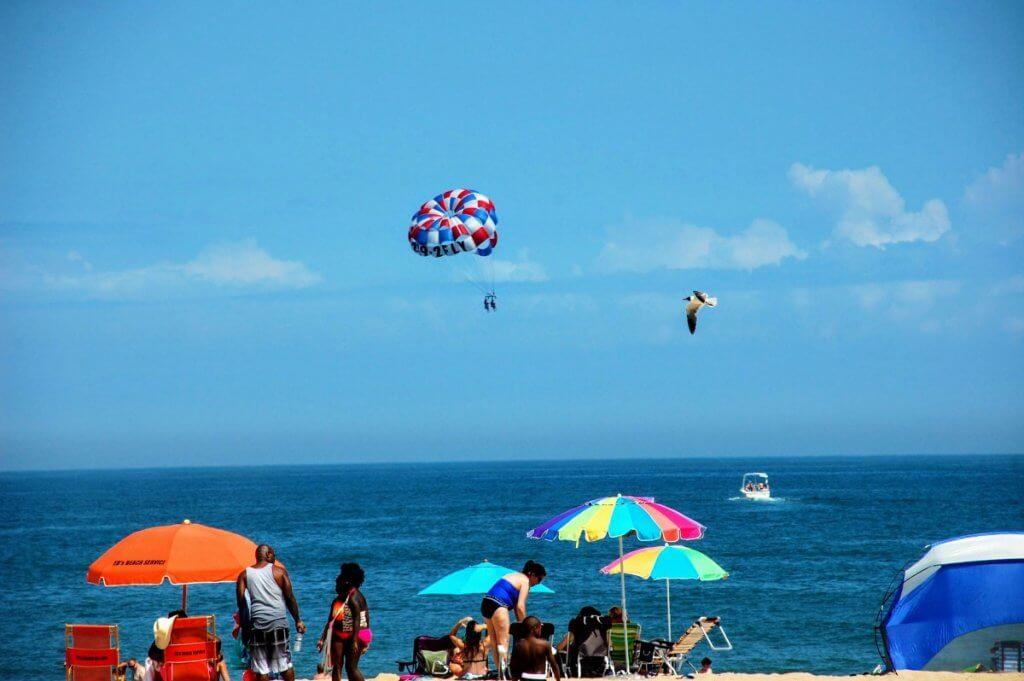 parasailing in OCean City