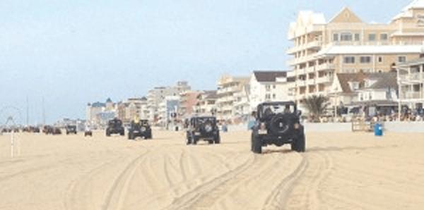 Jeep Week Beach Crawl Ocean City MD