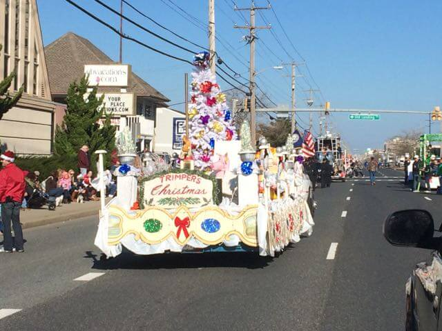 Although the rides are closed for the season, one of the final Trimpers rides of 2015 was in a float down Coastal Highway.