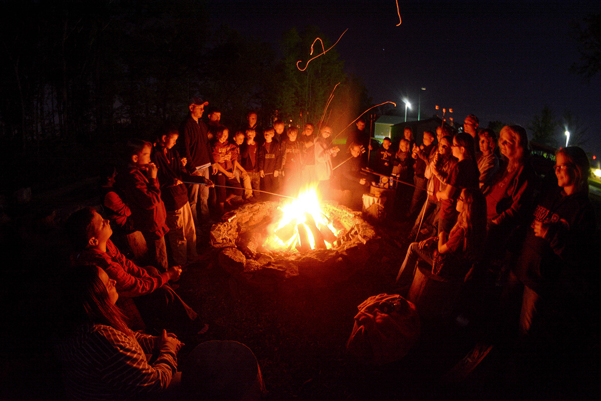 Humans and a Campfire