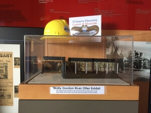 A scale model of the Wally Gordon River Otter Exhibit.