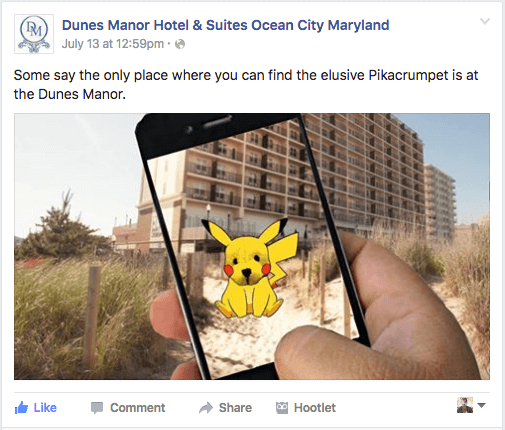 Using Pokemon Go! for your business