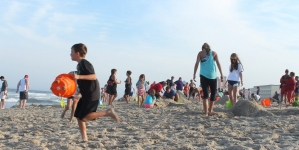 An evening at the Family Beach Olympics