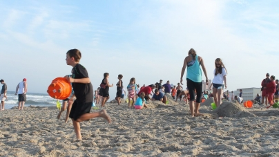 An evening at the Family Beach Olympics