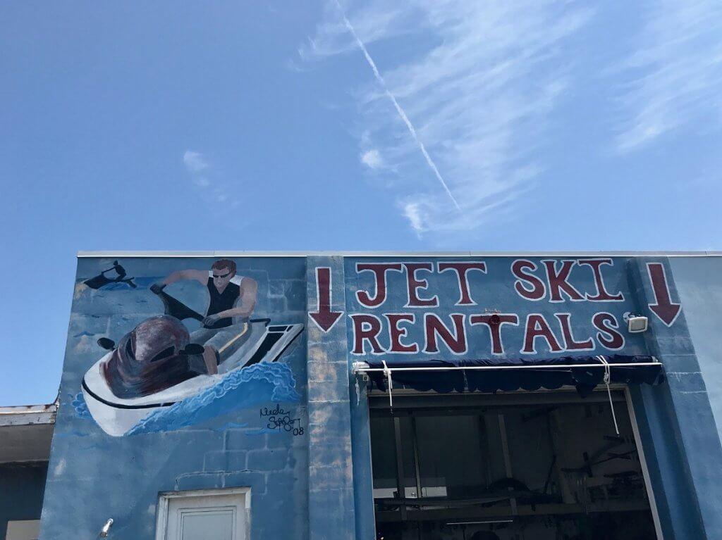 Bayside Boats jet ski garage