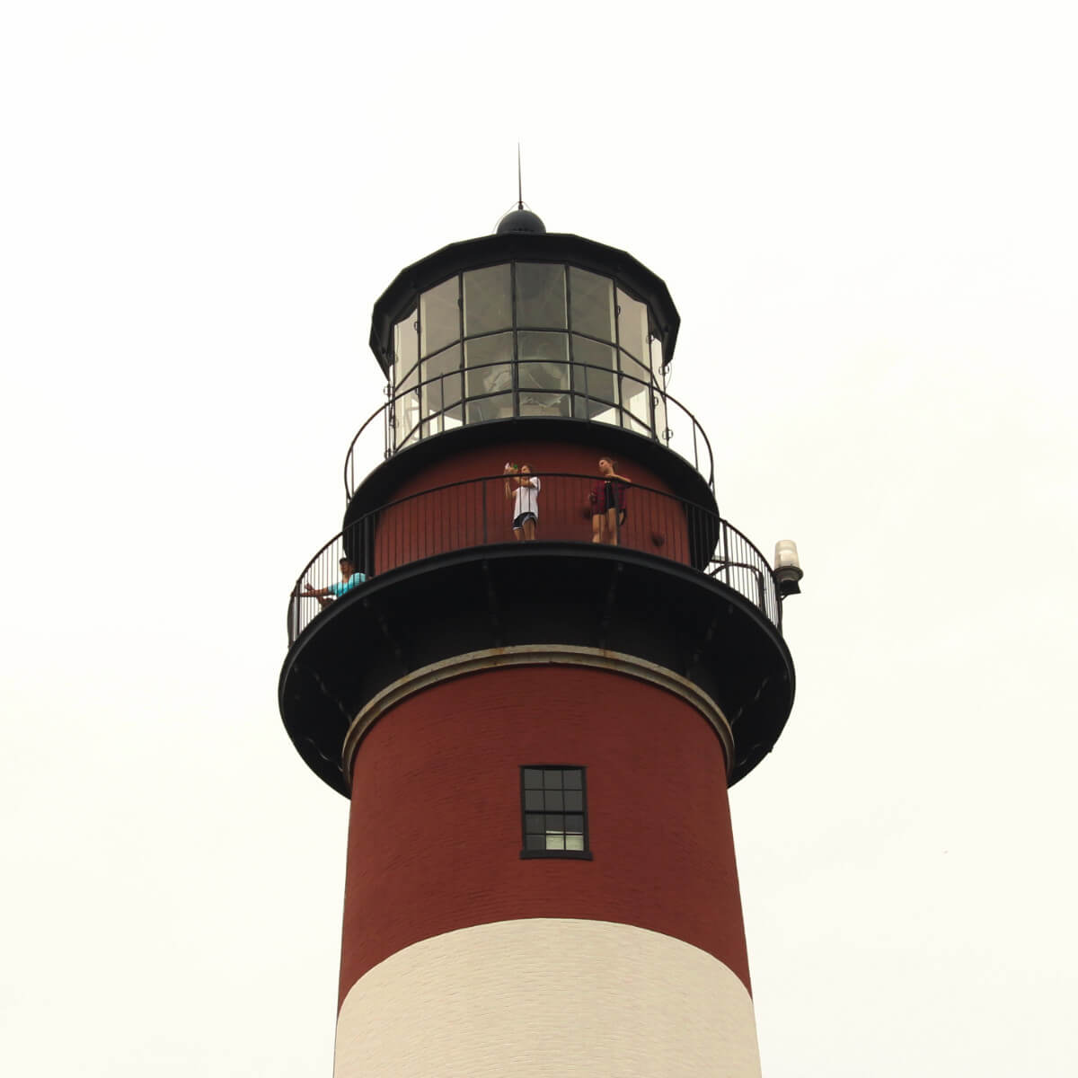 Looking out the lighthouse