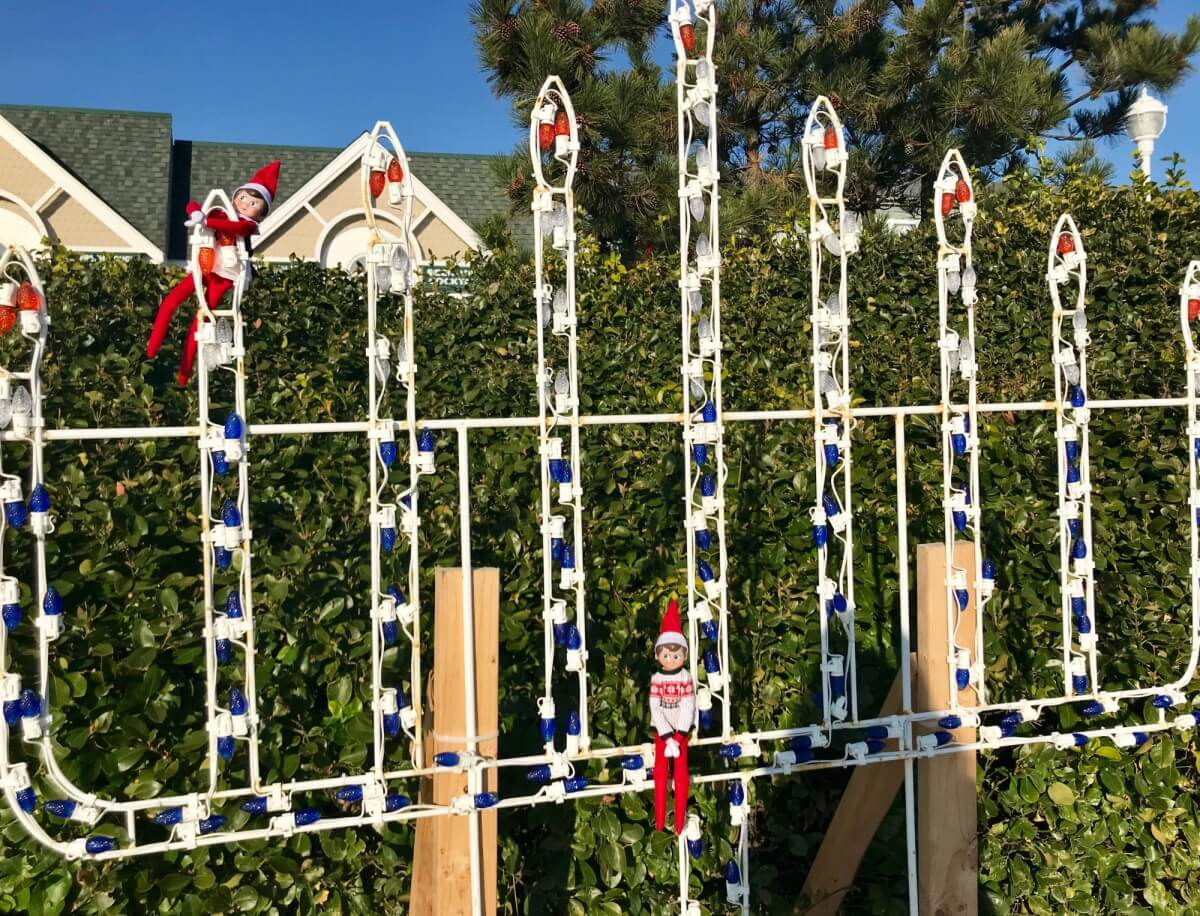 Ocean City elves menorah