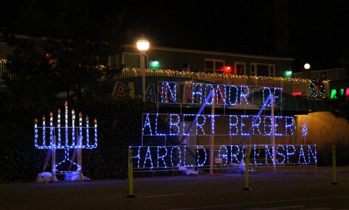 Hanukkah lights ocean city