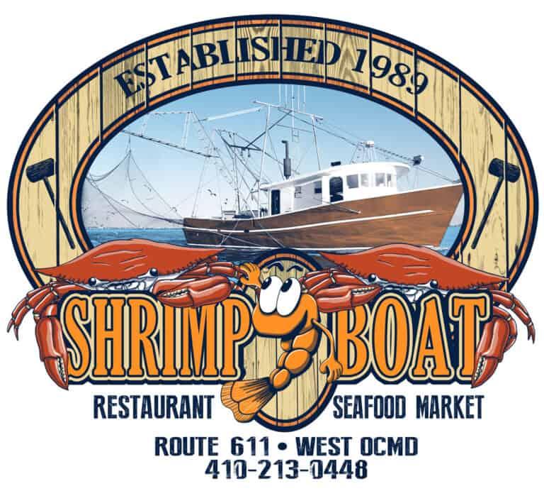 2035 shrimp boat crab oval back print 2 1 768x692