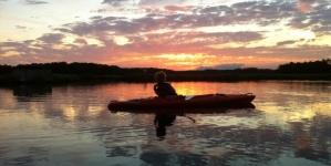 Enjoying the natural beauty, Adventuring on Ayers Creek