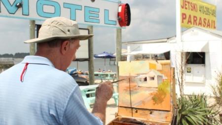 Artists Paint Ocean City En Plein Air