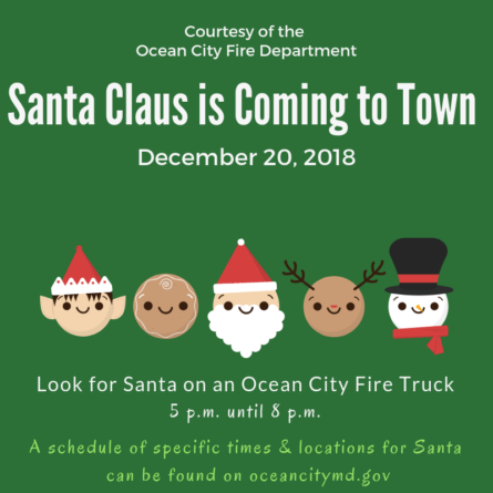 Santa's Coming to Town: OC Fire Department Santa Ride Schedule