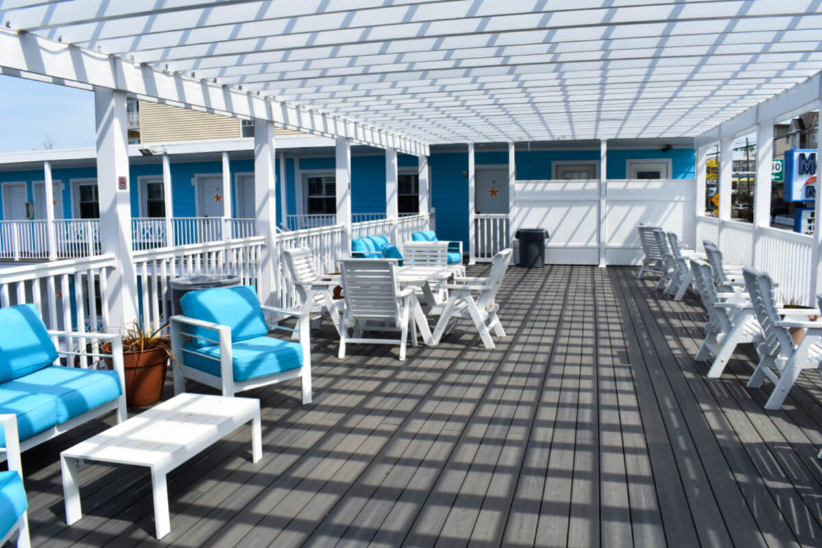 Madison Beach Motel deck