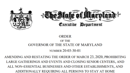 Gov. Larry Hogan Issues 'Stay at Home' Order – Amends Previous Order
